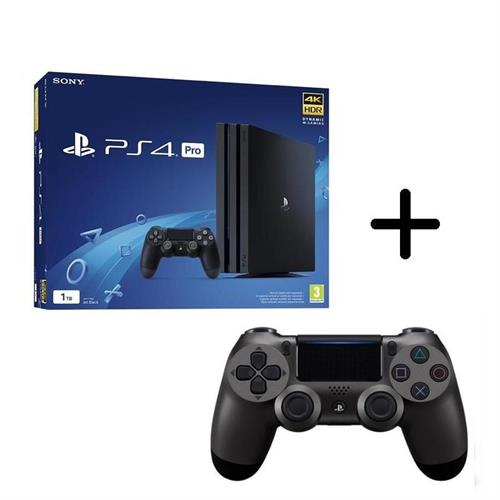 ps4-playstation-4-pro-gamma-1tb-black-controller-dualshock-4-v2-steel-black
