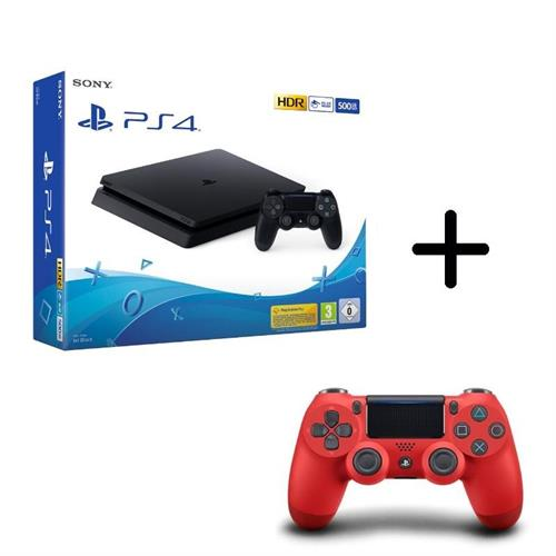 sony-playstation-4-ps4-500gb-new-chassis-f-cuh-2216a-controller-dualshock-red