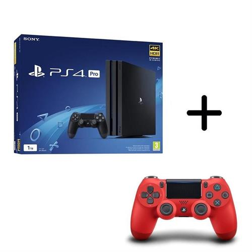 ps4-playstation-4-pro-gamma-1tb-black-controller-dualshock-4-v2-red