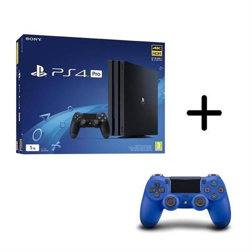 ps4-playstation-4-pro-gamma-1tb-black-controller-dualshock-4-v2-blue