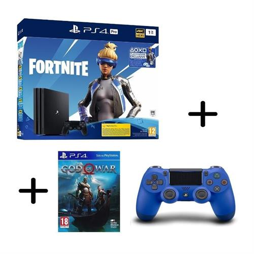 ps4-playstation-4-pro-gamma-1tb-black-fortnite-vch-controller-dualshock-4-v2-blue