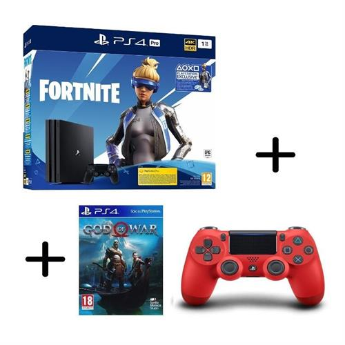 ps4-playstation-4-pro-gamma-1tb-black-fortnite-vch-controller-dualshock-4-v2-red