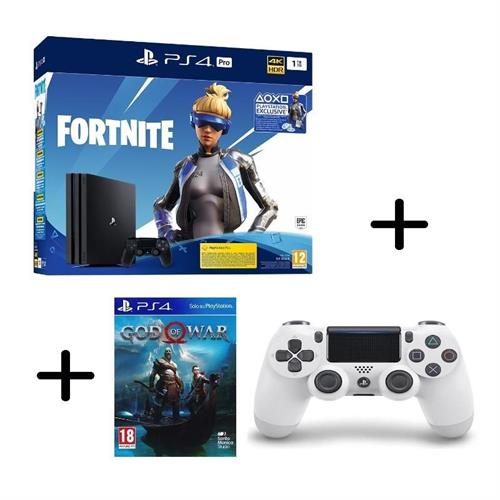 ps4-playstation-4-pro-gamma-1tb-black-fortnite-vch-controller-dualshock-4-v2-white
