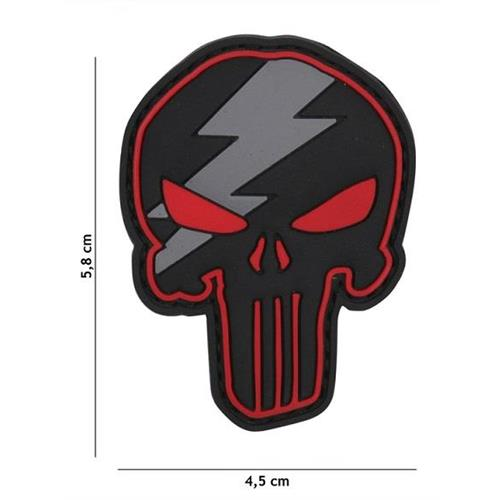 v-storm-patch-3d-in-pvc-con-velcro-punisher-thunder-rosso