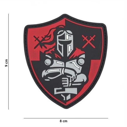 v-storm-patch-3d-in-pvc-con-velcro-cavaliere-rosso