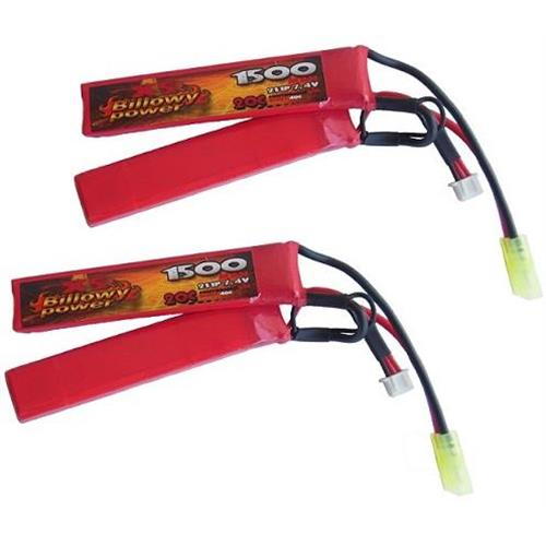 billowy-power-2pz-batteria-lipo-cqb-1500mah-7-4v-20c-compact-power-life