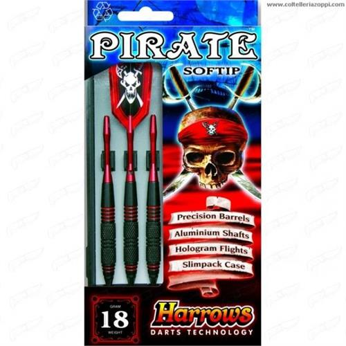 harrows-set-3-dardi-pirate-ebonite-brass-rosso-per-bersaglio-elettronico