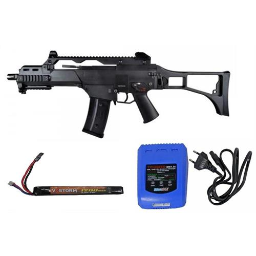 G36C DARK BLACK WITH LIPO BATTERY AND BATTERY CHARGER