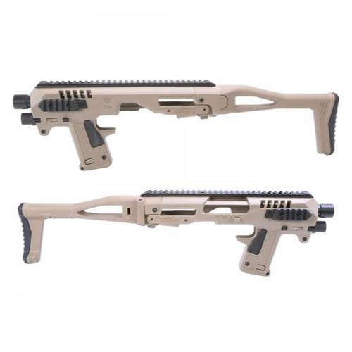 caa-micro-roni-kit-carbine-conversion-kit-for-glock-series-g17-g18-g19-g22-tan