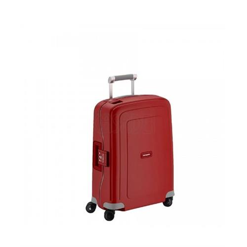 samsonite-suitcase-rigid-hand-luggage-s-cure-4-wheels-55-s-red
