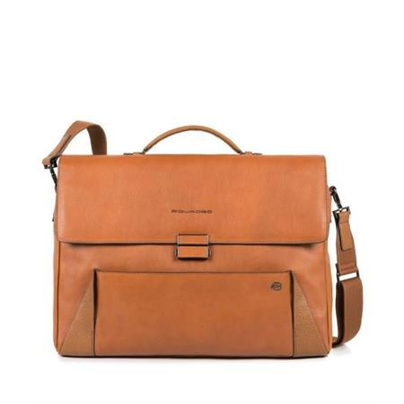 work-bag-piquadro-notebook-15-line-pan-ca4254s94-cu-leather-light-brown