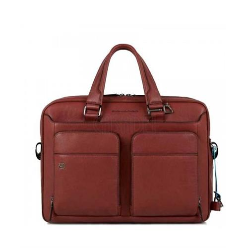work-bag-piquadro-notebook-15-6-line-black-square-ca2849b3-r-leather-red