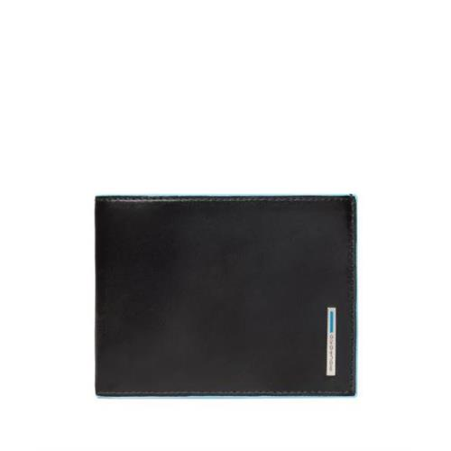 wallet-piquadro-card-holder-blue-square-line-pu1241b2r-n-black-leather