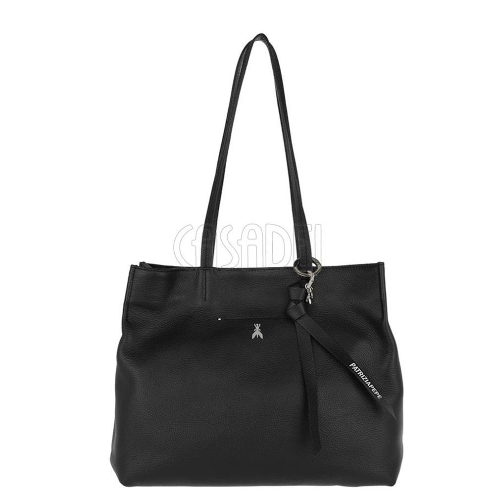 Borsa Shopping Patrizia Pepe in Pelle 2V9154 K103 Nero