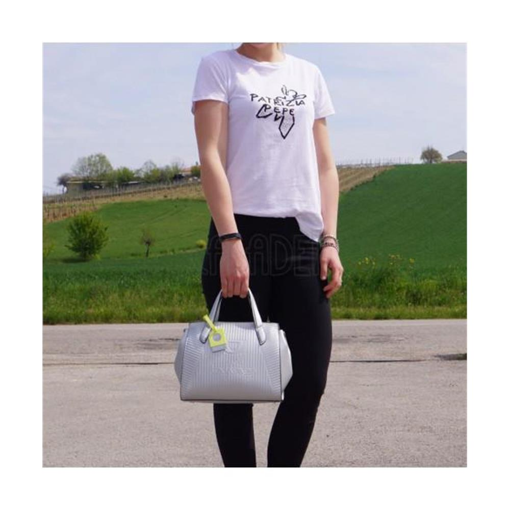 differently 76b79 caef6 Medium Handbag or Shoulder Bag Byblos Line Tote 2WB0036 Silver