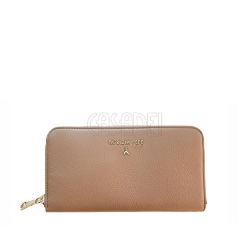 wallet-coin-purse-leather-zip-around-patrizia-pepe-2v4879-real-taupe