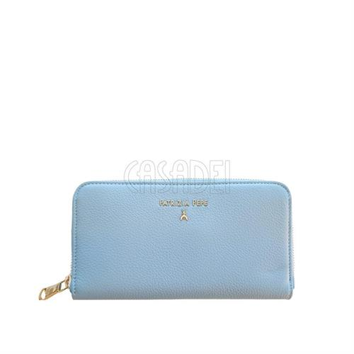 wallet-coin-purse-leather-zip-around-patrizia-pepe-2v4879-cosmic-blue