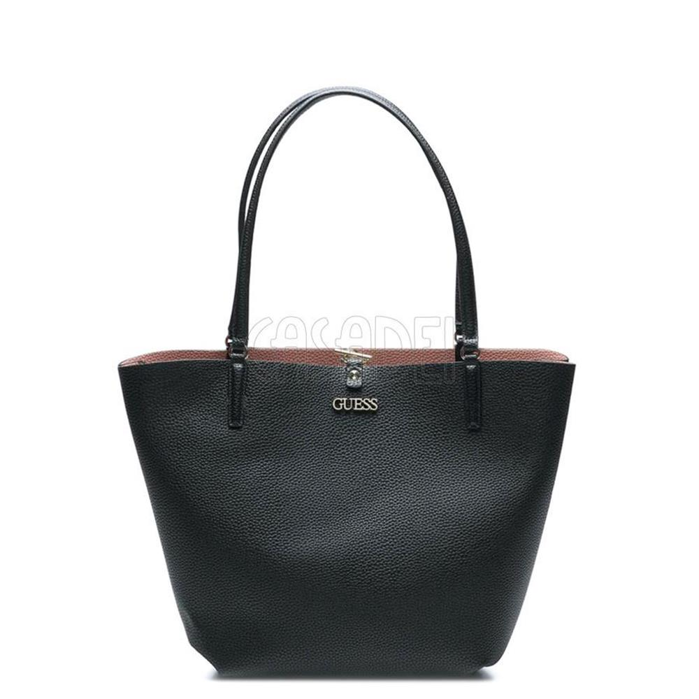Guess Borse On Line.Big Shopping Bag Guess Reversible Line Alby Vg745523 Black Bags