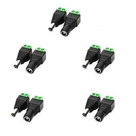 dc-power-jack-connectors-for-cctv-camera-strip-led-lights-5-female-jacks-and-5-male-jacks